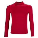 Under Armour ColdGear Boy's Armour Mock Top (Red)