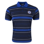 Chelsea Stripe Polo (Navy/Royal)