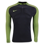 Nike AeroSwift Strike 1/4 Zip Top (Black/Yellow)