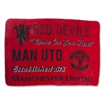 Manchester United Giant Sherpa Fleece Blanket
