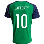 Northern Ireland 2016 LAFFERTY Home Soccer Jersey