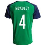 Northern Ireland 2016 MCAULEY Home Soccer Jersey