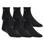 adidas Youth Graphic 6-Pack Quarter Sock (Black/Royal)