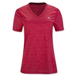 adidas Women's Ultimate V-Neck T-Shirt (Red)