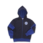 Chelsea Youth Full Zip Crest Hoody (Navy/Royal)