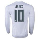 Real Madrid 15/16 James Rodriguez LS Home Soccer Jersey