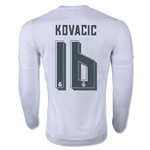 Real Madrid 15/16 Mateo Kovacic LS Home Soccer Jersey