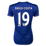 Chelsea 15/16 19 Diego Costa Women's Home Soccer Jersey