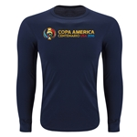 Copa America Centenario USA 2016 Long Sleeve Supersoft T-Shirt (Navy)