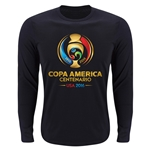 Copa America 2016 LS Full Color Emblem Supersoft T-Shirt (Black)