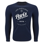 Paris Saint-Germain Circle Script LS T-Shirt (Navy)