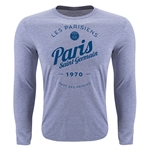 Paris Saint-Germain Circle Script LS T-Shirt (Heather Gray)