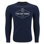 Paris Saint-Germain Diamond Shield LS T-Shirt (Navy)