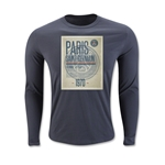 Paris Saint-Germain Poster LS T-Shirt (Dark Gray)