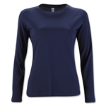 Women's Long Sleeve T-Shirt (Navy)