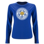 Leicester City Crest Women's LS T-Shirt (Royal)