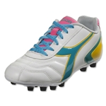 Diadora Women's Capitano LT (White/Teal)