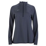 Under Armour Women's Stripe Tech 1/4 Zip (Black)