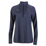 Under Armour Women's Stripe Tech 1/4 Zip (Navy)