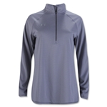 Under Armour Women's Stripe Tech 1/4 Zip Top (Gray)