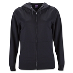 Women's Lightweight Full-Zip Hoody (Black)