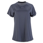 Under Armour Women's Stripe Tech Tee (Black)