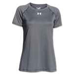 Under Armour Women's Stripe Tech Tee (Dk Gray)
