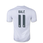 Real Madrid 15/16 Gareth Bale Youth Soccer Home Jersey