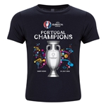 Portugal UEFA Euro 2016 Champions Youth Crew T-Shirt (Black)