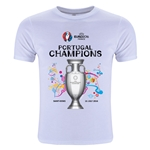 Portugal UEFA Euro 2016 Champions Youth Crew T-Shirt (White)
