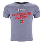 Portugal UEFA Euro 2016 Champions Youth Crew T-Shirt (Dark Gray)