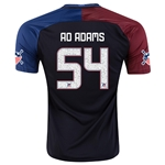 USA 2016 AO ADAMS Away Soccer Jersey