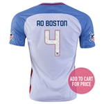 USA 2016 BOSTON American Outlaws Home Soccer Jersey