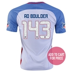 USA 2016 BOULDER American Outlaws Home Soccer Jersey
