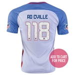 USA 2016 CVILLE American Outlaws Home Soccer Jersey