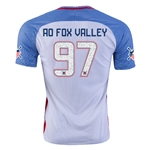 USA 2016 FOX VALLEY American Outlaws Home Soccer Jersey
