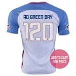 USA 2016 GREEN BAY American Outlaws Home Soccer Jersey