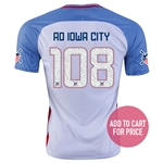 USA 2016 IOWA CITY American Outlaws Home Soccer Jersey