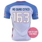 USA 2016 QUAD CITIES American Outlaws Home Soccer Jersey