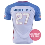 USA 2016 QUEEN CITY American Outlaws Home Soccer Jersey