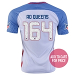 USA 2016 GUEENS American Outlaws Home Soccer Jersey
