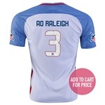 USA 2016 RALEIGH American Outlaws Home Soccer Jersey