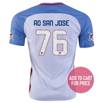 USA 2016 SAN JOSE American Outlaws Home Soccer Jersey