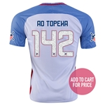 USA 2016 TOPEKA American Outlaws Home Soccer Jersey