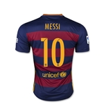Barcelona 15/16 Lionel Messi Youth Home Soccer Jersey