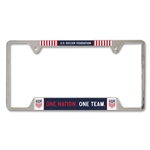 USA Metallic License Plate Frame