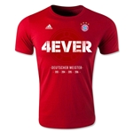 Bayern Munich 4Ever 2016 Bundesliga Champions T-Shirt (Red)
