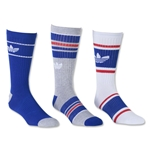 adidas Originals Retro 3 Pack Crew Sock (Sv/Ro)