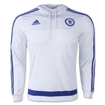 Chelsea FC adidas 15/16 Hooded Sweatshirt (White)