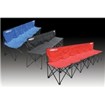 Kwik Goal Six Seat Kwik Bench (Black)